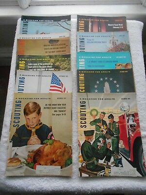 1964 SCOUTING Magazine X 10 ISSUE LOT(COMPLETE YEAR)