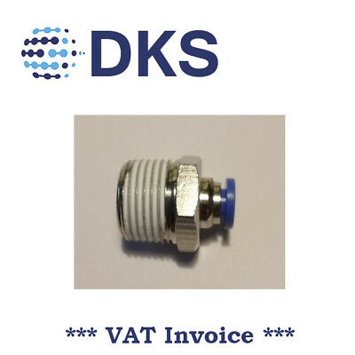 Male Stud Push In Fit Pneumatic Fittings Air 3/8 BSPT to 4mm Fitting  000569