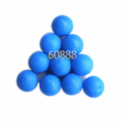 New .68 cal Reusable resilient soft Rubber Training Balls Paintballs  Blue