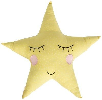 Sass And Belle Yellow Polka Dot Pastel Star Cushion