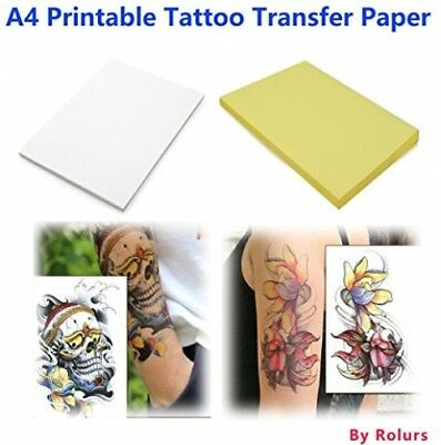 10 Sheets DIY A4 Temporary Tattoo Transfer Paper Printable Customized For