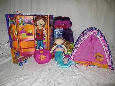 2 groovy girls- tent- bed- skateboard- wardrobe case- bean bag+ : groovy girls tent - memphite.com