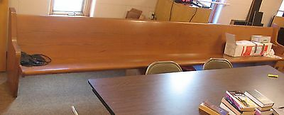 15 Foot Wood Church Pew Bench  for Pickup in Fort Wayne, IN