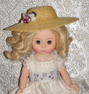 """Madame Alexander 8"""" Doll Hat -Original Dress Outfit - Beautiful- Spring - Easter"""