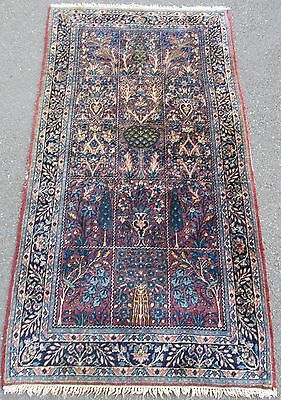 A Rare Antique Country House Shabby Chic Persian Meshed  Rug  100 Years Old