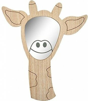 Transomnia Giraffe Wooden Children's Wall Mirror