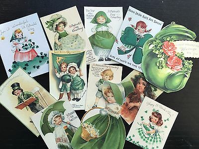 BB71 -- Lot of 12 Vintage St Patrick's Day DIE CUTS for CARD MAKING