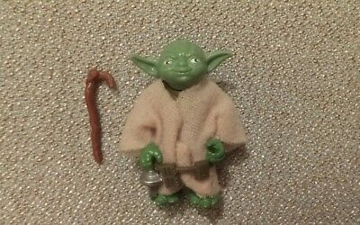 1980 VINTAGE STAR WARS YODA  KENNER 100% ORIGINAL pac man EYES, NO SNAKE