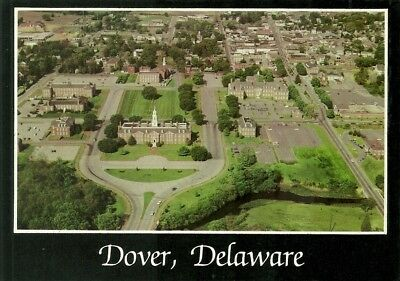 Aerial View Of Capital Buildings, Chrome, Unposted, Dover, Delaward