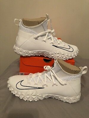 Nike Alpha Huarache 6 Elite Turf Lax Lacrosse Shoes Size 11 WHITE 923426 110
