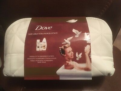 NEW 575ml Dove shea butter wash bag set, EBAYS CHEAPEST as always
