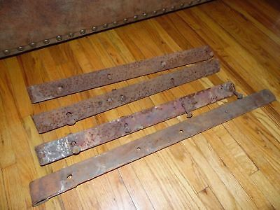 "4 Large Antique Barn Door Iron Strap Hinges  31"" & 25""  ~~Free Shipping~~"