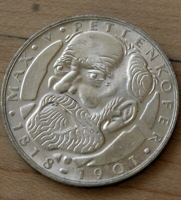 1968 D Germany 5 Mark Silver Max von Pettenkofer