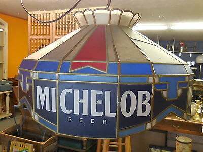 MICHELOB Beer -Vintage plastic table sign light old style-Working!