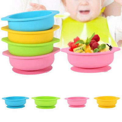 Baby Kids Feeding Silicone Mat Table Suction Food Tray Placemat Plate Bowl Dish