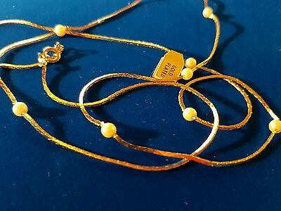 joblot 30 gold plated 30inch long pearly beaded necklace