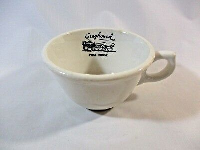 """Vtg. Syracuse China """"Greyhound Post House"""" Bus Line Restaurant Ware Coffee Cup"""