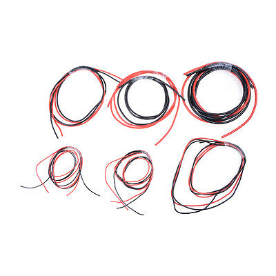 1meter Red+ Black Silicon Wire 12 14 16 18 22 24AWG Heatproof Soft Silicone@JB