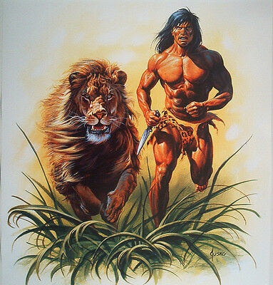 WerbePlakat Tarzan is back @ Kranichborn Tarzan Bücher gez. Joe Jusko