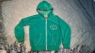 Next Hoodie girls 5 years NY Team Green aqua Velour