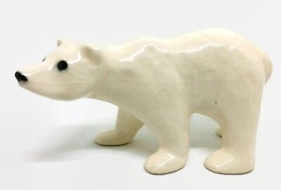Vintage Hagen Renaker White Polar Bear Adult Miniature Animal Figurine