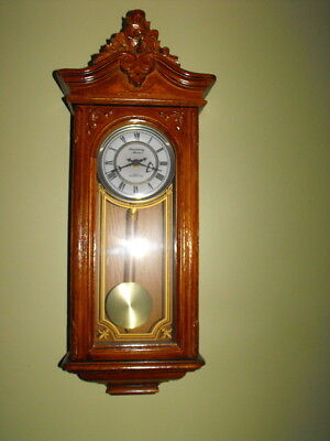 Strausbourg Manor Oak Westminster Chime Quartz Wall Clock - Nice