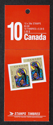 Canada — Booklet Pane of 10 — Christmas Virgin Mary & Christ Child #1294 (BK120)
