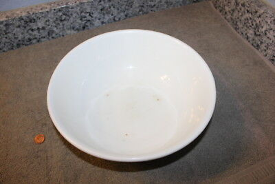 Large Edwin M Knowles Vitreous White Mixing Bowl with pottery mark 29-2-3