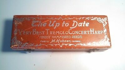 """Antique  """"The Up to Date"""" Very Best Concert Harp M.Hohner, In Original Box 1915"""