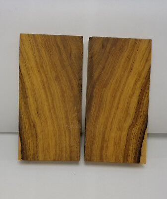 Book Matched Desert Ironwood unfinished rough-cut Knife Handle Making Scales (1)