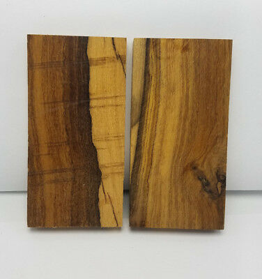 Desert Ironwood unfinished and  rough-cut Knife Handle Making Scales (2)