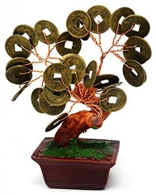 Feng Shui Chinese I Ching Coin Money Tree + Free Mxsabrina Red String Bracelet