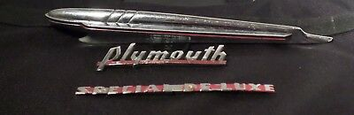 40 or 50 plymouth special Deluxe hood ornament &Emblems for plymouth or rat rods