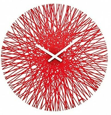Koziol SILK Wall Clock, Transparent Red