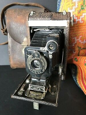 Vintage Kodak No. 1 Autographic Jr 120 Camera with Leather Case  …Circa 1910 / 1