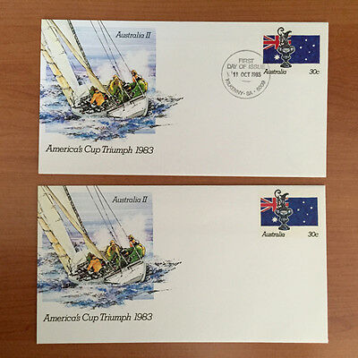 America's Cup Triumph 30c 1983 Pre Stamped Envelopes Mint & 1st Day Cover