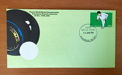 20c 4th World Bowls Championship - Pre Stamped Envelope - 1st Day Cover