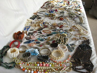 Large Lot Craft Jewelry 9+ Pounds Variety Jewelry Earrings Necklaces Bracelets +