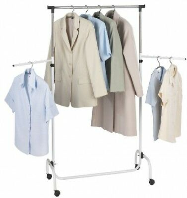 WENKO 4383010100 Clothes Rack With 2 Swivel Arms 87 X 165 X 44 Cm And Wheeled