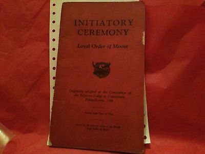 Initiation Ceremony Loyal Order of Moose 23 Pages