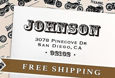 Personalized gift for husband-Gift for him-Custom Address Stamp - Stamp Self Ink