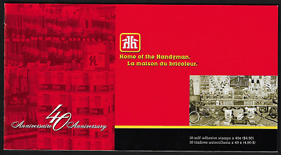 Canada — Booklet of 10 in Cover — Home Hardware 40th Anniv. #2032a (BK288) — MNH