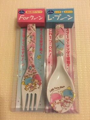 Little Twin Stars Fork And Spoon Set Of 2 Sanrio Japan