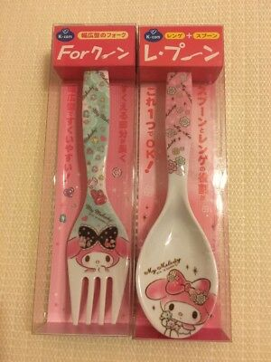 My Melody Fork And Spoon Set Of 2 Sanrio Japan
