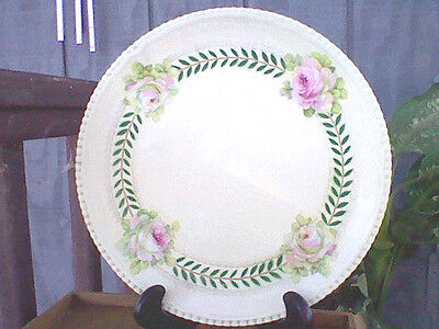 """Antique German Porcelain China Plate Hand Painted Roses 12"""" Evc Hutschenreuther"""