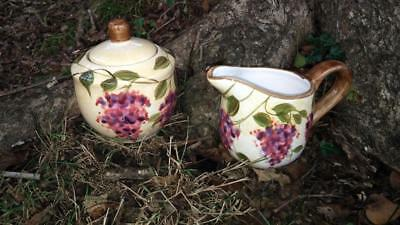 2004 Heritage Mint Wisteria Large Creamer and Sugar Bowl w/ Lid