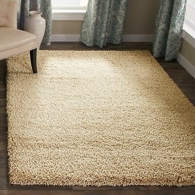 Shaggy Xl Large Beige Soft Modern Rugs Brown Thick Plain Long Pile Bedroom Small