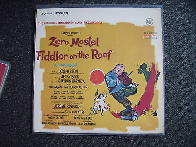 Zero Mostel-Fiddler on the Roof LP-Germany-LSO-1093-RCA