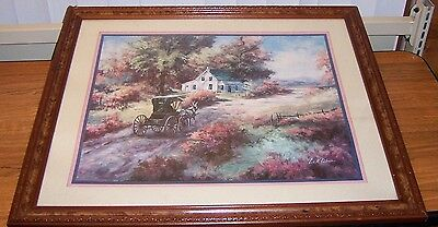 "HORSE & BUGGY COUNTRY  LEE K PARKINSON 26 3/4"" x 22 3/4"" x 1"" PRINT/FRAMED/GLASS"