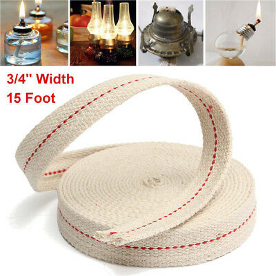 3/4 Inch Flat Cotton Wick 15 Foot Length Wick For Oil Lamps and Lanterns 4.5M